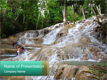 Dunn's River Fall PowerPoint Template
