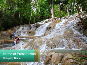 Dunn's River Fall PowerPoint Template