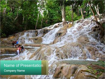 Dunn's River Fall PowerPoint Template - Slide 1
