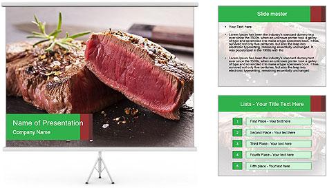 Marbling Steak PowerPoint Template
