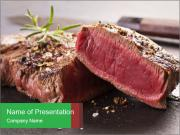 Marbling Steak PowerPoint Template