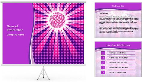 Pink Night Light PowerPoint Template