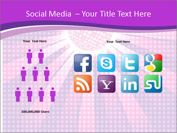 Pink Night Light PowerPoint Template - Slide 5