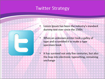 Pink Night Light PowerPoint Template - Slide 9