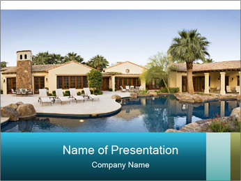 Villa In North America PowerPoint Template - Slide 1
