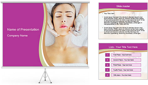Face Beaity Therapy PowerPoint Template