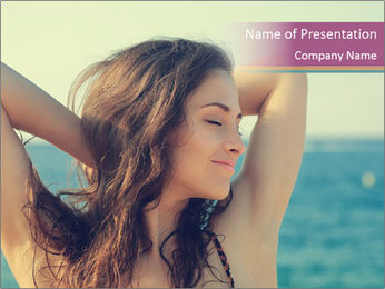 Relaxed Lady On Vacation PowerPoint Template