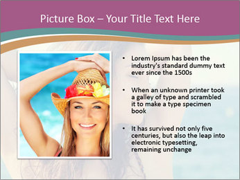 Relaxed Lady On Vacation PowerPoint Templates - Slide 13