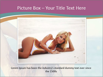 Relaxed Lady On Vacation PowerPoint Templates - Slide 15