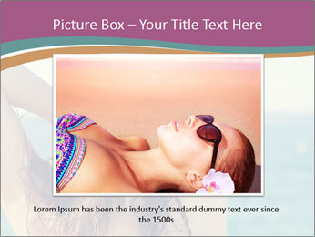 Relaxed Lady On Vacation PowerPoint Templates - Slide 16