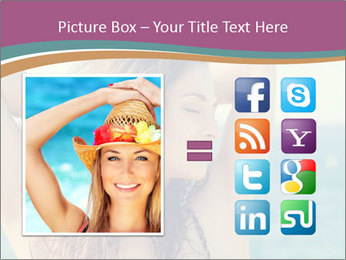 Relaxed Lady On Vacation PowerPoint Templates - Slide 21