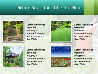 Green Grass In Garden PowerPoint Template - Slide 14