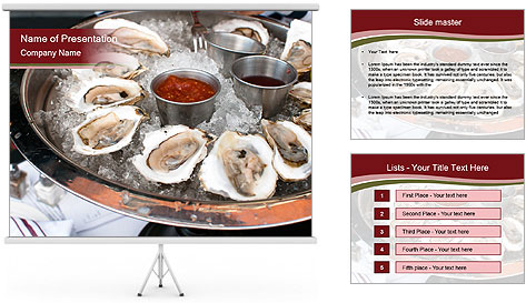 Fresh Mollusks PowerPoint Template
