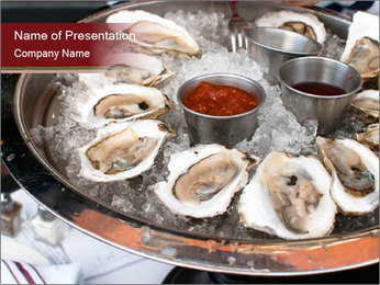 Fresh Mollusks PowerPoint Template
