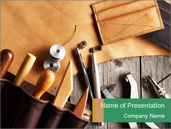 Leathercraft PowerPoint Templates - Slide 1