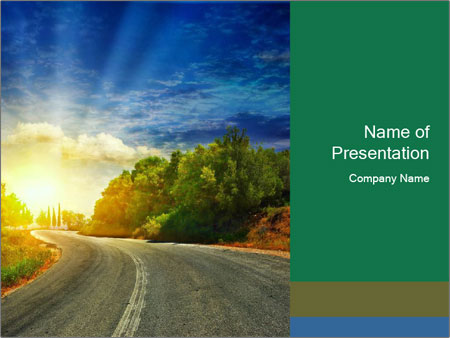 Sunlight And Road PowerPoint Templates