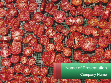 Dried Tomatos PowerPoint Template