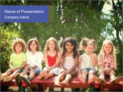 Group Of Girls PowerPoint Template