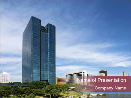 Skyscraper In Ohio PowerPoint Templates
