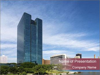Skyscraper In Ohio PowerPoint Template