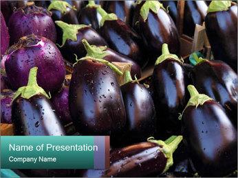 Aubergine PowerPoint Template - Slide 1