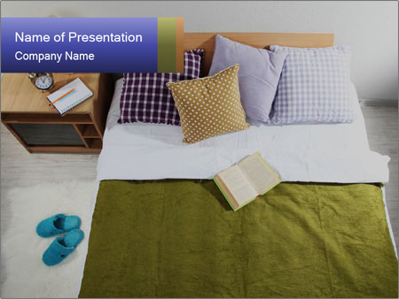 Comfy Bed PowerPoint Template