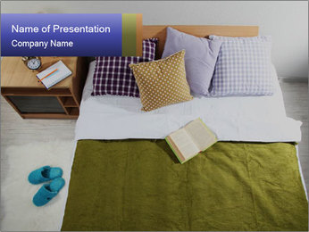 Comfy Bed PowerPoint Template - Slide 1