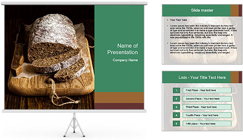 Homemade Rye Bread PowerPoint Template