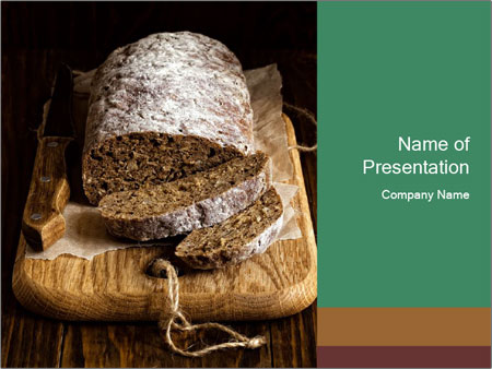 Homemade Rye Bread PowerPoint Template