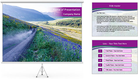 Landforms PowerPoint Template