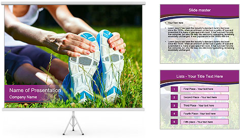 Stretching In Park PowerPoint Template