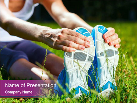 Stretching In Park PowerPoint Templates