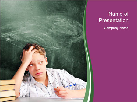 Thinking Schoolboy PowerPoint Templates