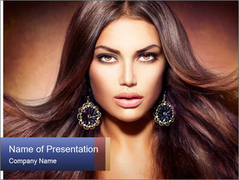 Unreal Fashion Model PowerPoint Template - Slide 1
