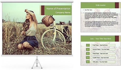 Model Shooting In Countryside PowerPoint Template
