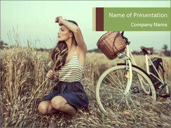 Model Shooting In Countryside PowerPoint Template - Slide 1
