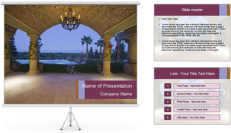 Stylish Veranda PowerPoint Template