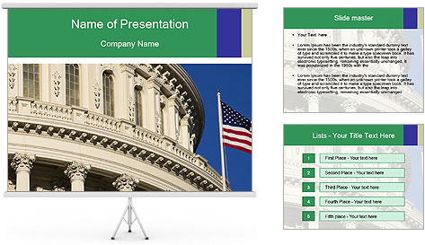 USA Capitol PowerPoint Template