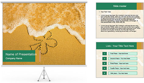 Sand Flower Drawing PowerPoint Template