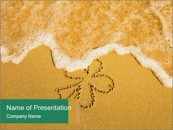 Sand Flower Drawing PowerPoint Templates - Slide 1