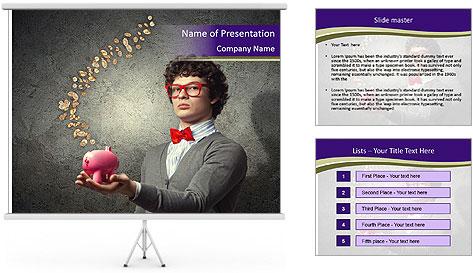 Bank Magician PowerPoint Template