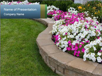 Flowerbed PowerPoint Template - Slide 1
