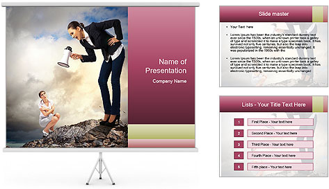 Shouting Boss PowerPoint Template