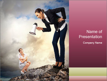 Shouting Boss PowerPoint Templates - Slide 1