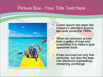 Yellow Kayak Boat PowerPoint Template - Slide 13
