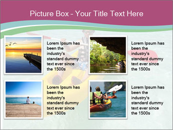 Yellow Kayak Boat PowerPoint Templates - Slide 14