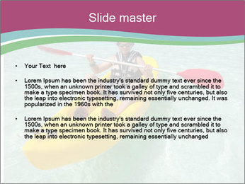 Yellow Kayak Boat PowerPoint Templates - Slide 2