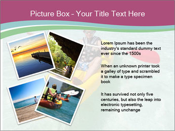 Yellow Kayak Boat PowerPoint Template - Slide 23
