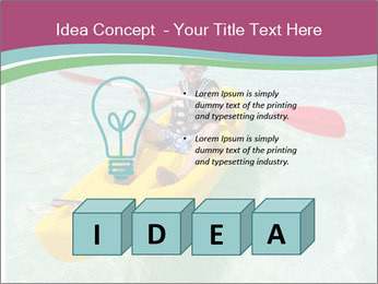 Yellow Kayak Boat PowerPoint Template - Slide 80