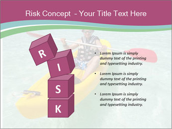 Yellow Kayak Boat PowerPoint Template - Slide 81